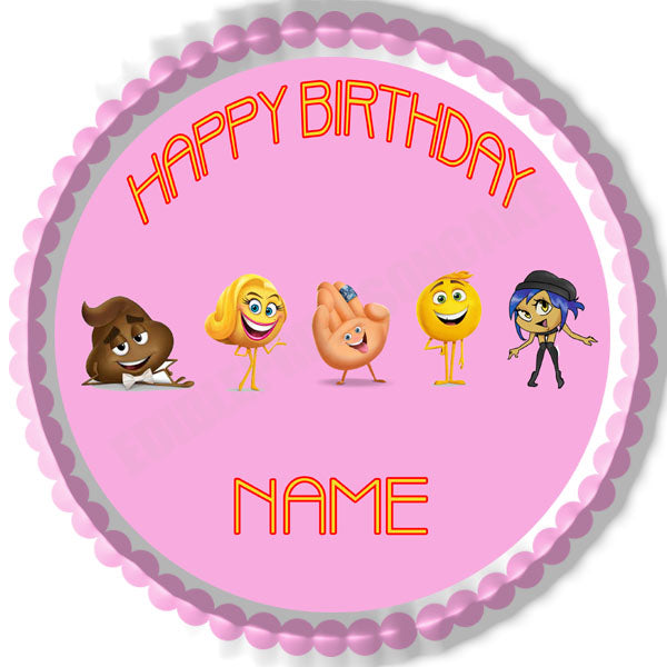 The Emoji Movie B Edible Cake Topper Amp Cupcake Toppers