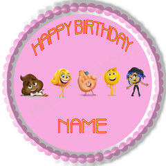 The Emoji Movie B Edible Birthday Cake Topper OR Cupcake Topper, Decor