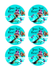 Fanboy and Chum Chum (Nr2) - Edible Cake Topper, Cupcake Toppers, Strips