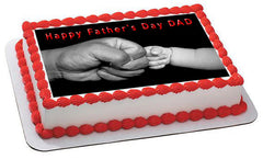 Father's Day 2 Edible Birthday Cake Topper OR Cupcake Topper, Decor - Edible Prints On Cake (Edible Cake &Cupcake Topper)