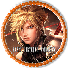 Final Fantasy 7 - Edible Cake Topper OR Cupcake Topper, Decor