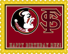 Florida State Seminoles Edible Birthday Cake Topper OR Cupcake Topper, Decor - Edible Prints On Cake (Edible Cake &Cupcake Topper)