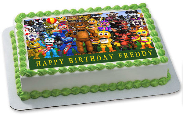 Fnaf World 2 Edible Cake Topper Amp Cupcake Toppers Edible