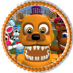 Fnaf World 3 Edible Birthday Cake Topper OR Cupcake Topper, Decor
