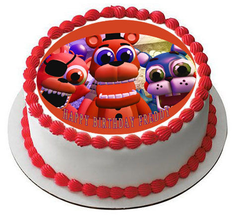 Fnaf World 4 Edible Cake Topper Amp Cupcake Toppers Edible