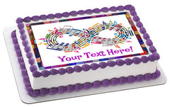 Forever Music - Edible Cake Topper, Cupcake Toppers, Strips