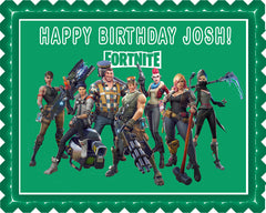 Fortnite (Nr2) - Edible Cake Topper or Cupcake Toppers, Strips