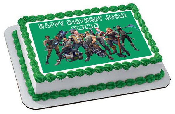 Fortnite Nr2 Edible Cake Topper Or Cupcake Toppers