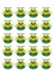 Frog - Edible Cake Topper, Cupcake Toppers, Strips