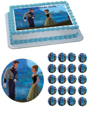 FROZEN 4  Edible Birthday Cake Topper OR Cupcake Topper, Decor - Edible Prints On Cake (Edible Cake &Cupcake Topper)