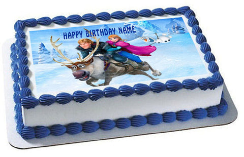 FROZEN 6  Edible Birthday Cake Topper OR Cupcake Topper, Decor