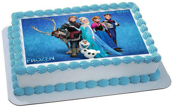 FROZEN 3 Edible Birthday Cake OR Cupcake Topper   Edible ...