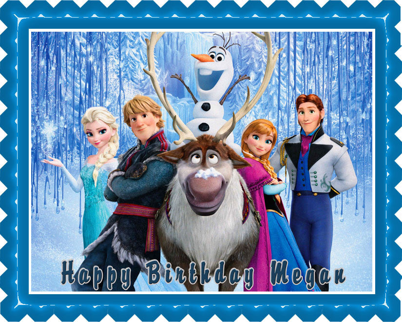 FROZEN (Nr5) - Edible Cake Topper OR Cupcake Topper, Decor