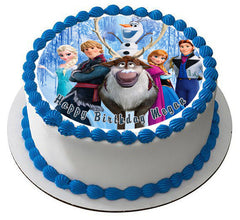 FROZEN 5  Edible Birthday Cake Topper OR Cupcake Topper, Decor