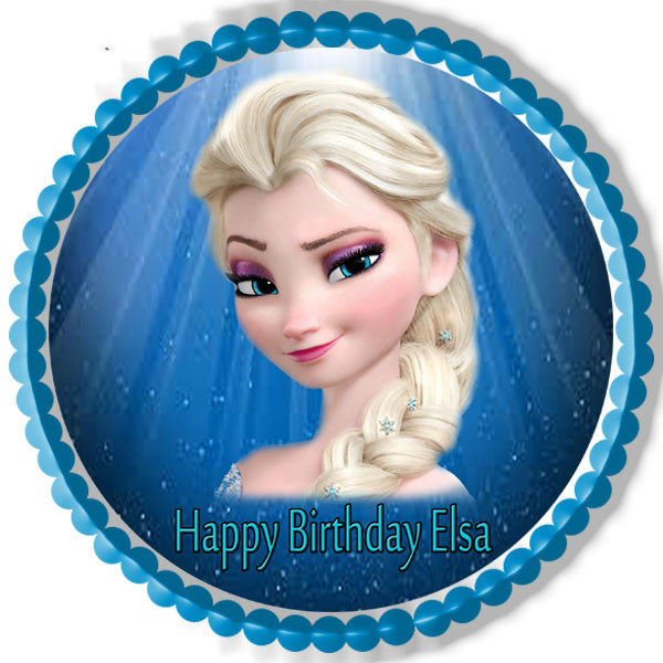 frozen elsa face edible cake topper cupcake toppers edible