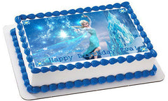 Frozen Elsa Edible Birthday Cake Topper OR Cupcake Topper, Decor
