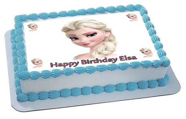 Frozen Elsa Face 2 Edible Cake Topper & Cupcake Toppers ...