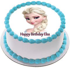 Frozen Elsa Face 2 Edible Birthday Cake Topper OR Cupcake Topper, Decor