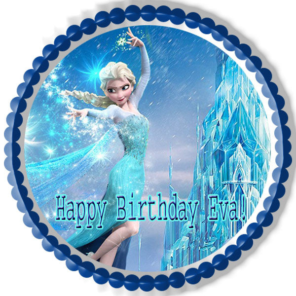 Frozen Elsa Edible Birthday Cake Or Cupcake Topper