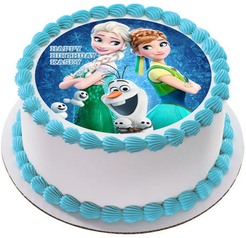 Elsa Edible Cake Decoration : Frozen Fever Elsa Anna Edible Cake Topper & Cupcake ...
