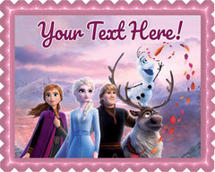 Frozen II (Nr2) - Edible Cake Topper, Cupcake Toppers, Strips