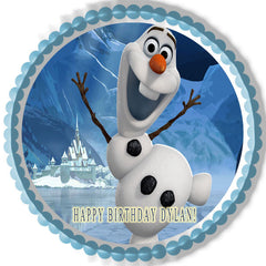 FROZEN Olaf Edible Birthday Cake Topper OR Cupcake Topper, Decor