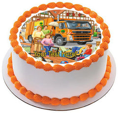 Garbage Truck - Edible Cake Topper, Cupcake Toppers, Strips