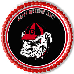 Georgia Bulldogs - Edible Cake Topper OR Cupcake Topper, Decor