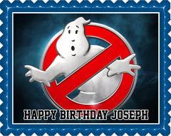 Ghostbusters 4 Edible Birthday Cake Topper OR Cupcake Topper, Decor