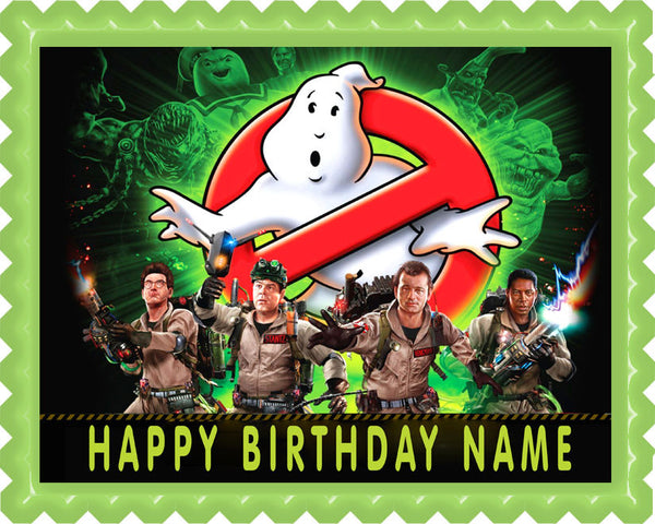 ghostbusters cake topper ghostbusters edible birthday cake or cupcake topper 4489