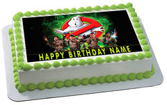GHOSTBUSTERS Edible Birthday Cake Topper OR Cupcake Topper, Decor - Edible Prints On Cake (Edible Cake &Cupcake Topper)