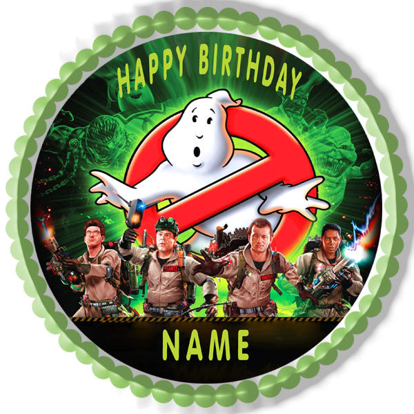 Ghostbusters Edible Birthday Cake Or Cupcake Topper