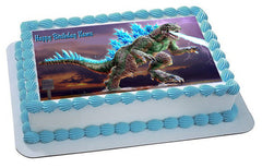 Godzilla 2 Edible Birthday Cake Topper OR Cupcake Topper, Decor - Edible Prints On Cake (Edible Cake &Cupcake Topper)