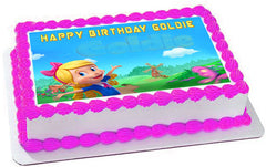 Goldie & Bear 2 Edible Birthday Cake Topper OR Cupcake Topper, Decor - Edible Prints On Cake (Edible Cake &Cupcake Topper)