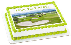 Golf - Edible Cake Topper, Cupcake Toppers, Strips