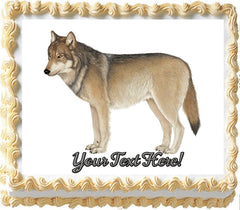Gray Wolf - Edible Cake Topper OR Cupcake Topper, Decor