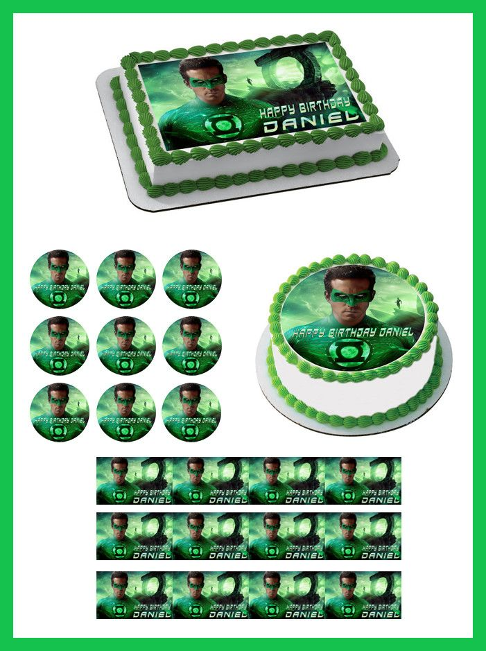 Green Lantern Edible Cake Topper Edible Prints On Cake Epoc