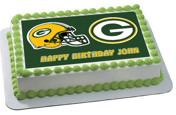 Greenbay Packers Edible Birthday Cake Or Cupcake Topper