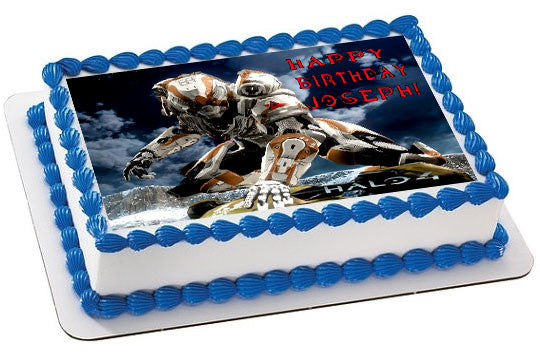 Halo 4 Edible Cake Topper & Cupcake Toppers   Edible ...
