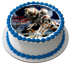 Halo 4 - Edible Cake Topper OR Cupcake Topper, Decor