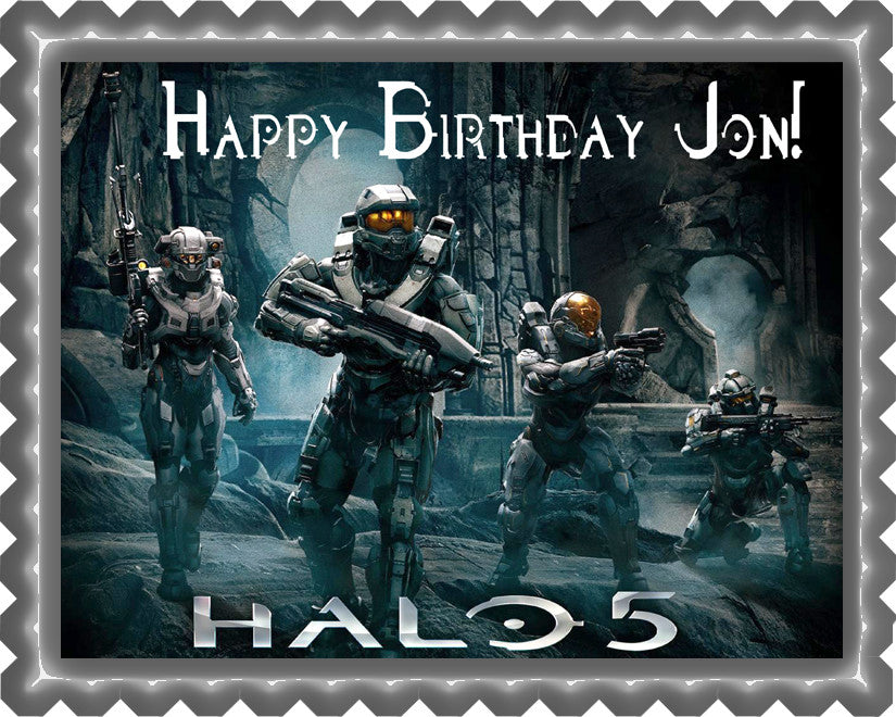 Halo 5 Guardians Edible Cake Topper Cupcake Toppers Edible