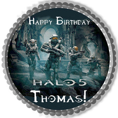 Halo 5 Guardians Edible Birthday Cake Topper OR Cupcake Topper, Decor - Edible Prints On Cake (Edible Cake &Cupcake Topper)