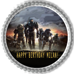 Halo Reach 1 Edible Birthday Cake Topper OR Cupcake Topper, Decor