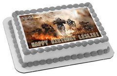 HALO REACH 2 Edible Birthday Cake Topper OR Cupcake Topper, Decor