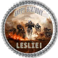 HALO REACH 2 Edible Birthday Cake OR Cupcake Topper ...