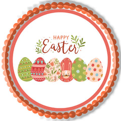 Happy Easter (Nr2) - Edible Cake Topper, Cupcake Toppers, Strips