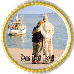 Happy Retirement (Nr2) - Edible Cake Topper OR Cupcake Topper