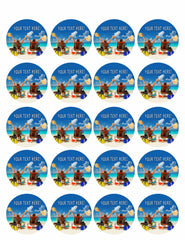 Happy Family Vacation at Paradise - Edible Cake Topper, Cupcake Toppers, Strips