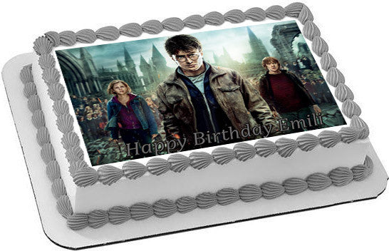 Harry Potter Edible Birthday Cake Topper OR Cupcake Decor