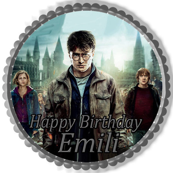 Harry Potter Edible Cake Topper Amp Cupcake Toppers Edible